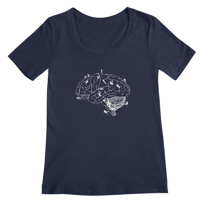 Climbing On The Brain Women's Regular Scoop Neck by Justin Tapp's Artist Shop