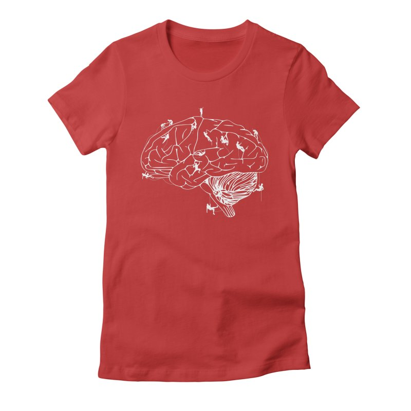 Climbing On The Brain Women's Fitted T-Shirt by Justin Tapp's Artist Shop