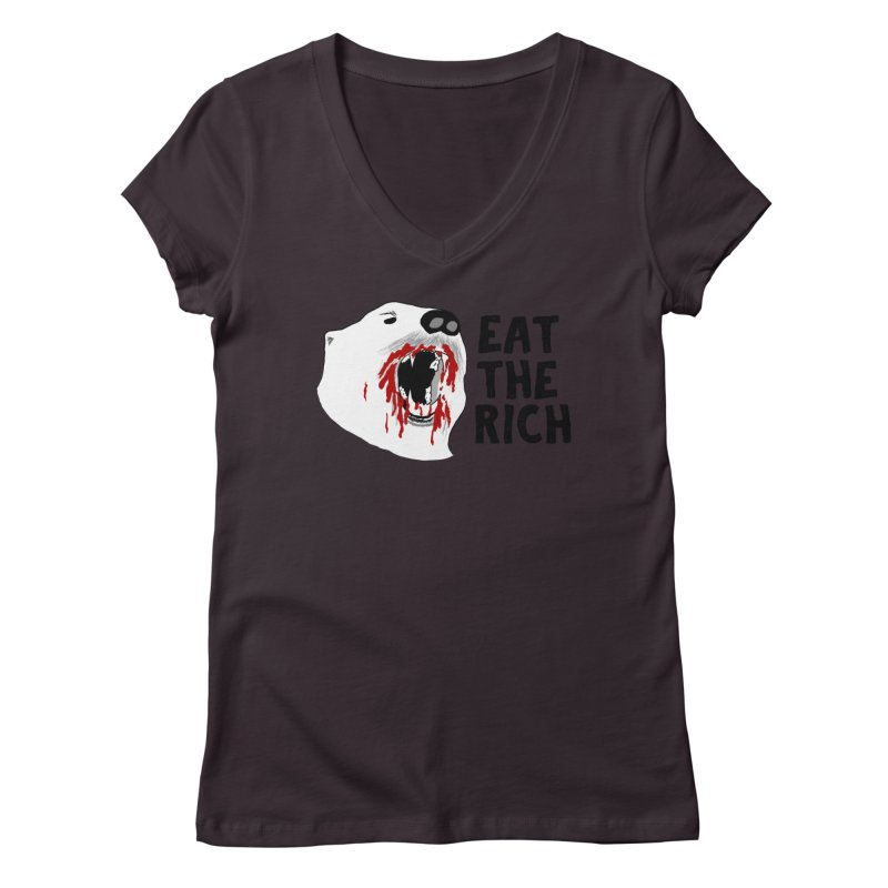 Eat The Rich Women's V-Neck by Justin Tapp's Artist Shop