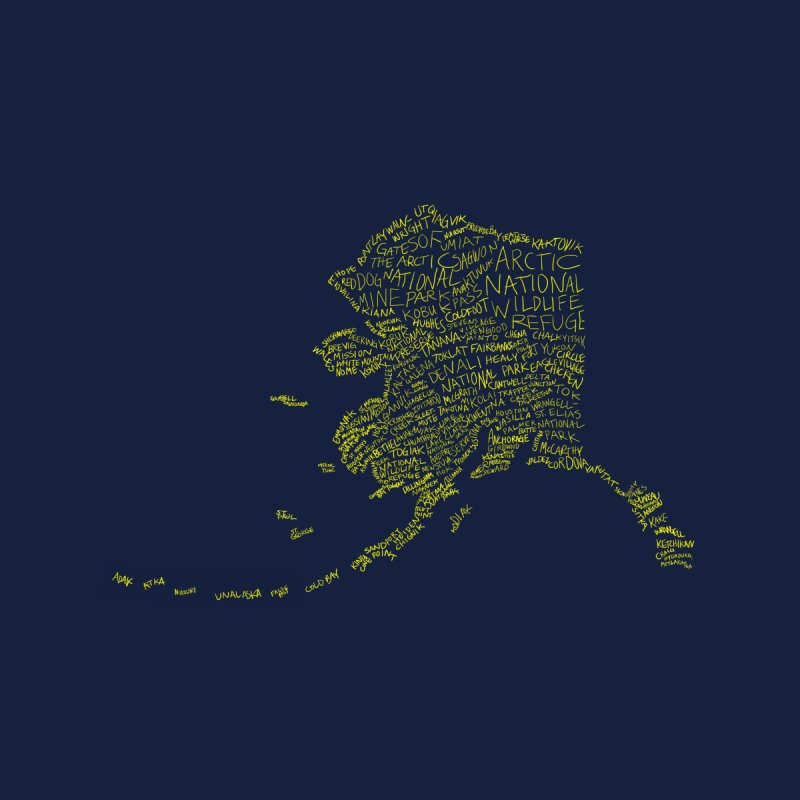 Alaska: Gold and Blue by justintapp's Artist Shop
