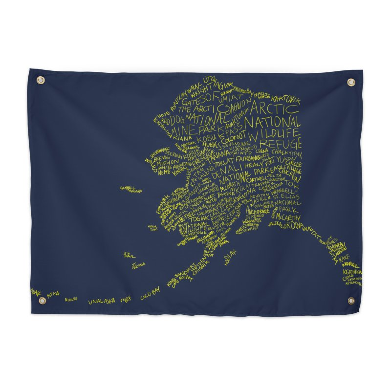 Alaska: Gold and Blue Home Tapestry by justintapp's Artist Shop