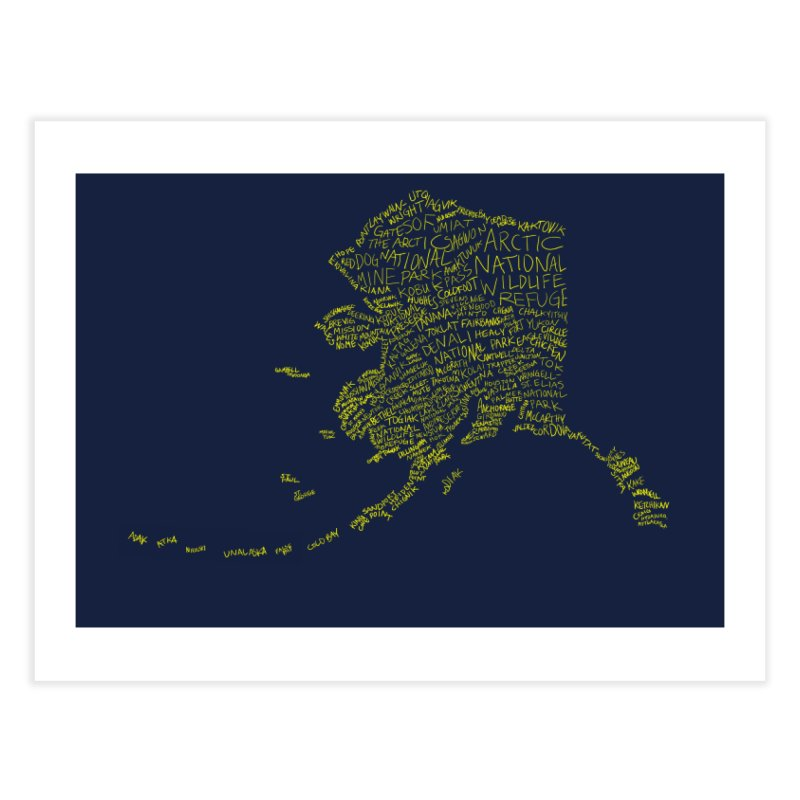 Alaska: Gold and Blue Home Fine Art Print by Justin Tapp's Artist Shop