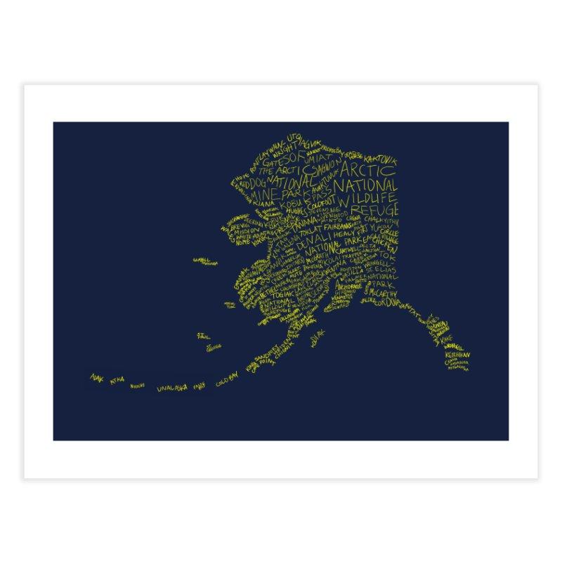 Alaska: Gold and Blue Home Fine Art Print by justintapp's Artist Shop
