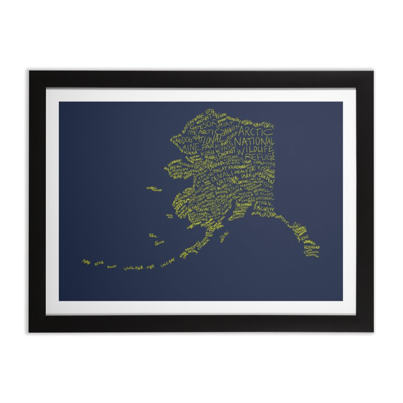 Alaska: Gold and Blue Home Framed Fine Art Print by Justin Tapp's Artist Shop