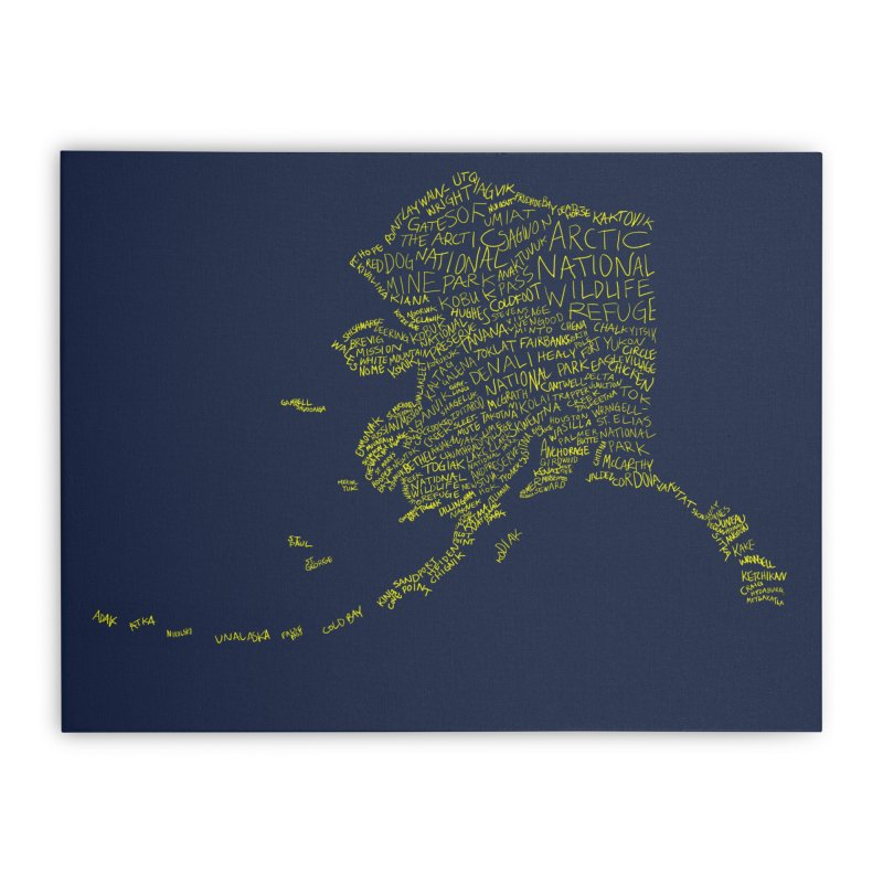 Alaska: Gold and Blue Home Stretched Canvas by justintapp's Artist Shop
