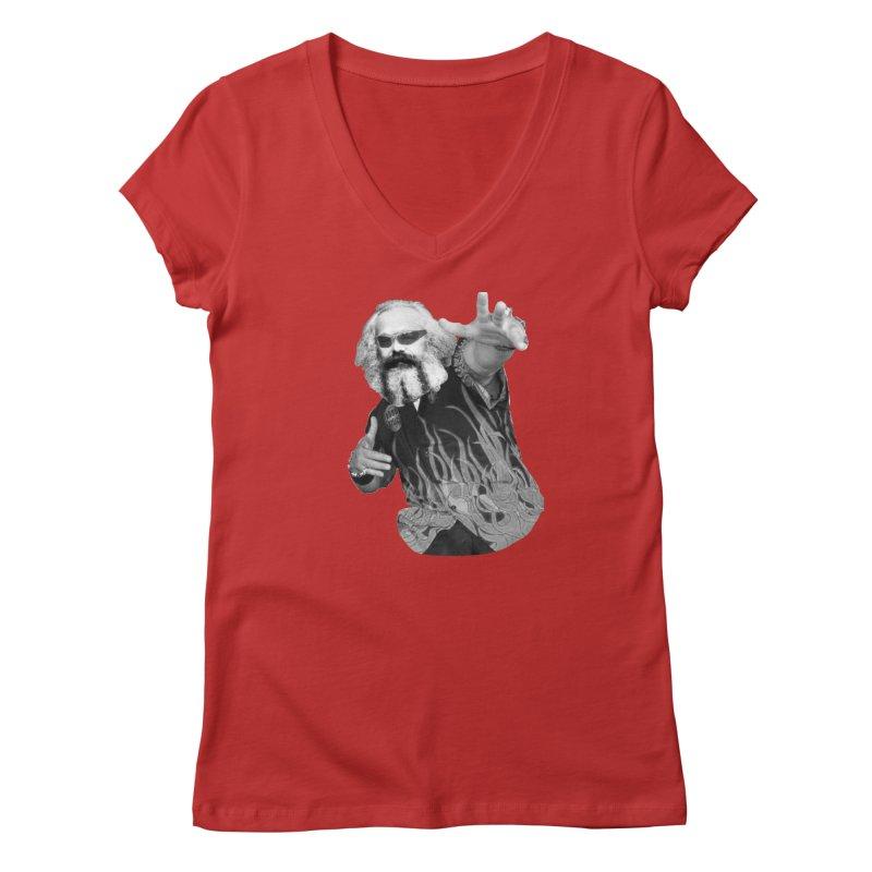 Karl Marx Fieri Women's Regular V-Neck by Justin Tapp's Artist Shop