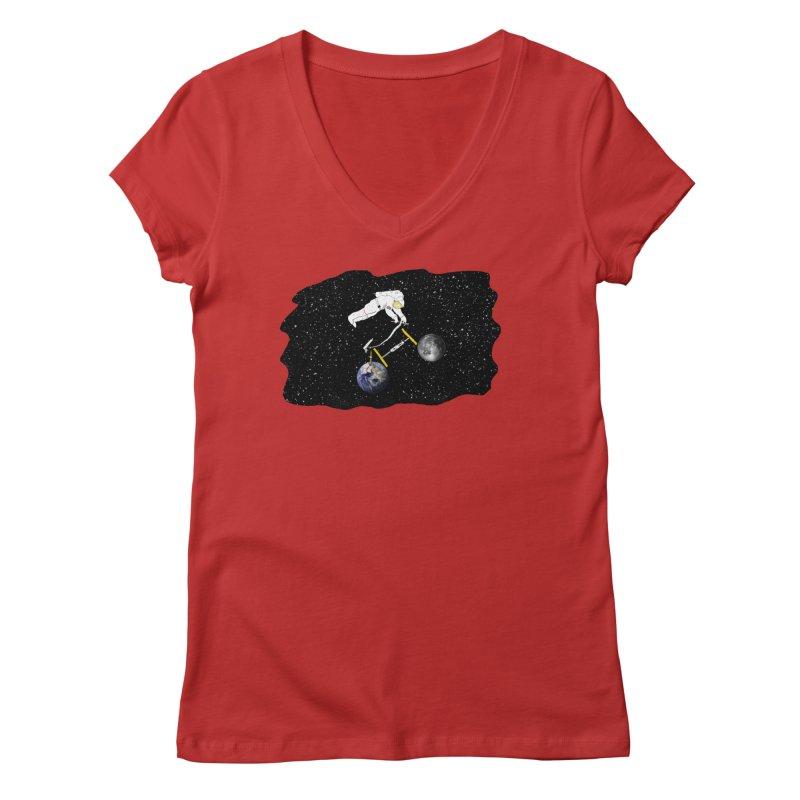 Tour d'Éspace Women's V-Neck by Justin Tapp's Artist Shop