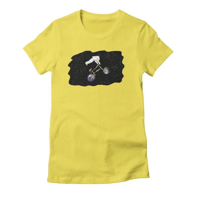 Tour d'Éspace Women's Fitted T-Shirt by Justin Tapp's Artist Shop