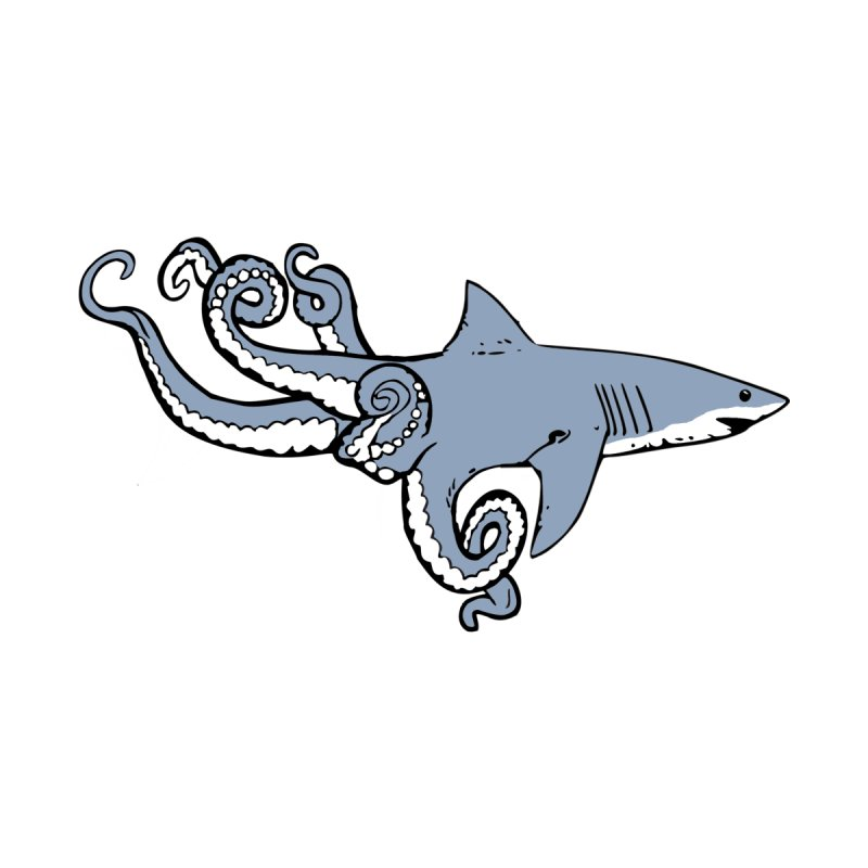 Sharktopus Men's T-Shirt by Justin Tapp's Artist Shop