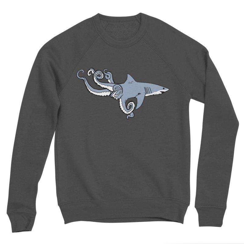 Sharktopus Men's Sponge Fleece Sweatshirt by justintapp's Artist Shop