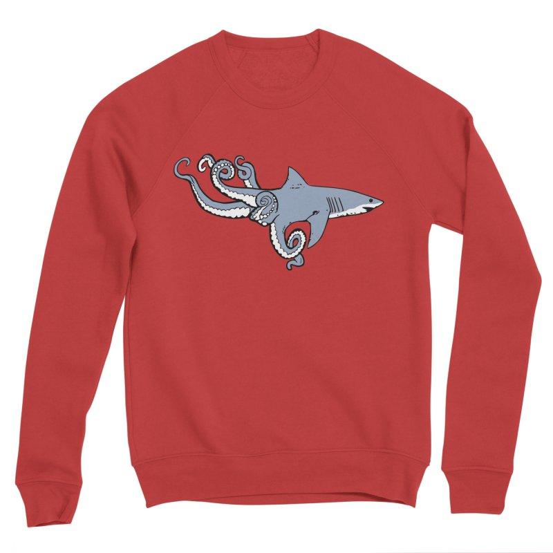 Sharktopus Men's Sponge Fleece Sweatshirt by Justin Tapp's Artist Shop