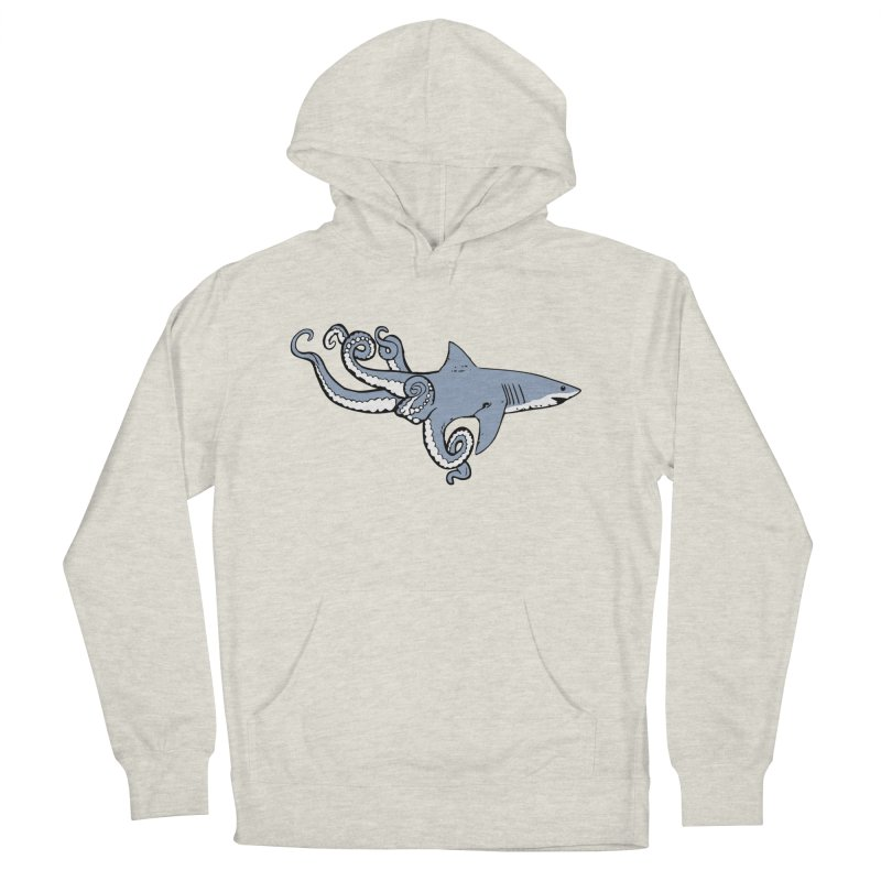Sharktopus Men's French Terry Pullover Hoody by Justin Tapp's Artist Shop