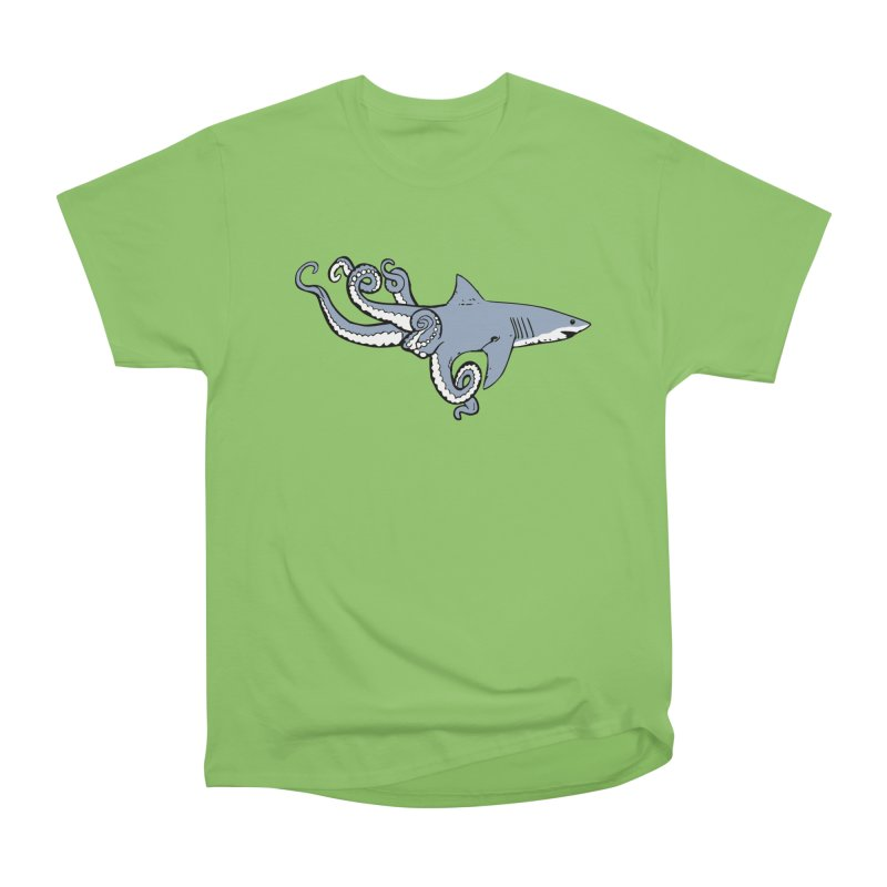 Sharktopus Women's Heavyweight Unisex T-Shirt by Justin Tapp's Artist Shop