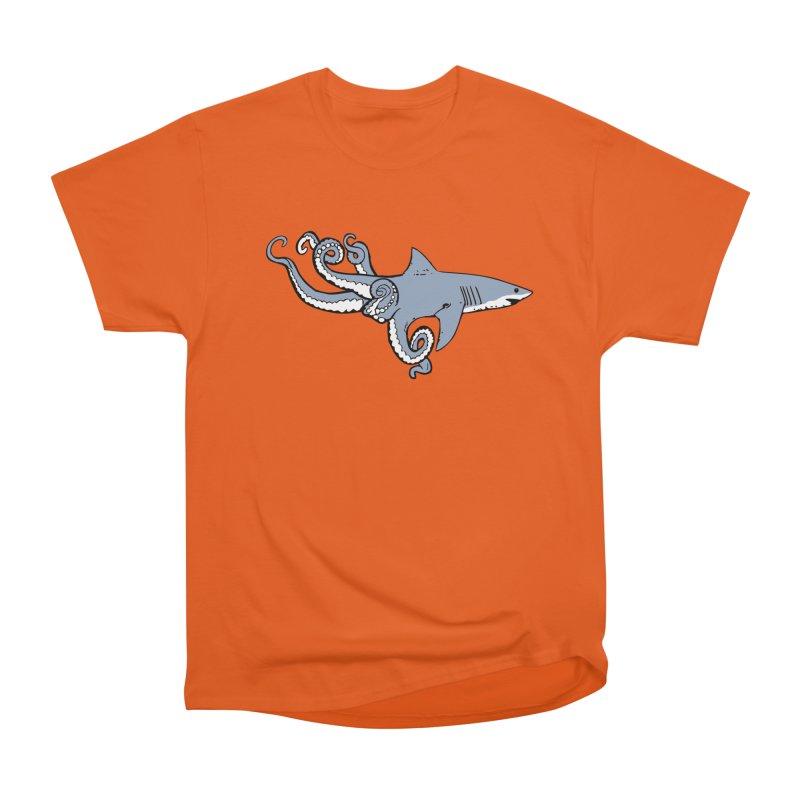 Sharktopus Women's Heavyweight Unisex T-Shirt by Justin Tapp's Artist Shop