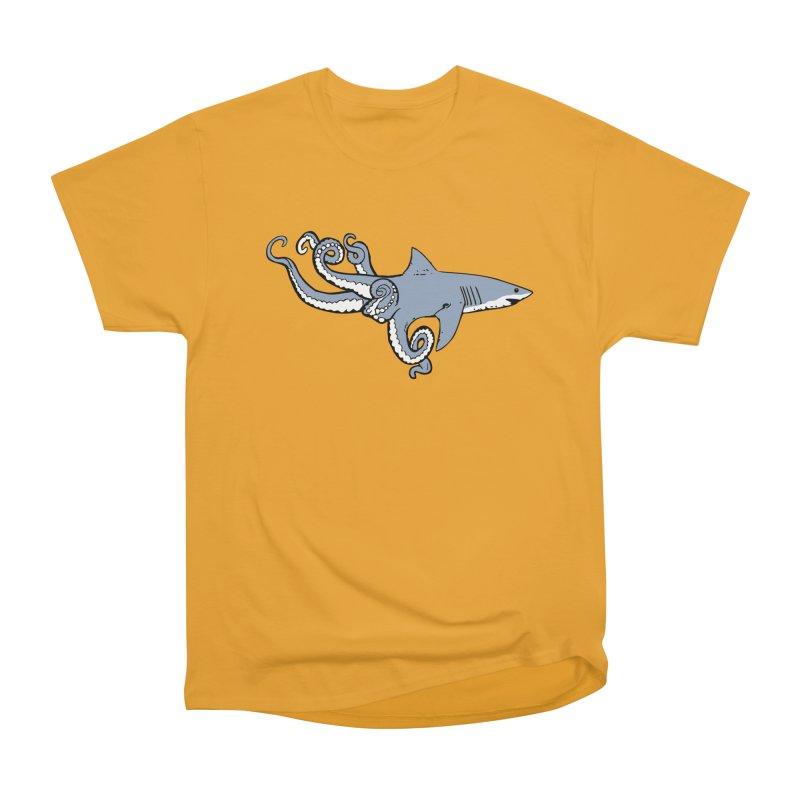 Sharktopus Men's Heavyweight T-Shirt by Justin Tapp's Artist Shop