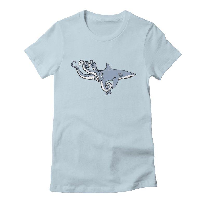 Sharktopus Women's Fitted T-Shirt by Justin Tapp's Artist Shop