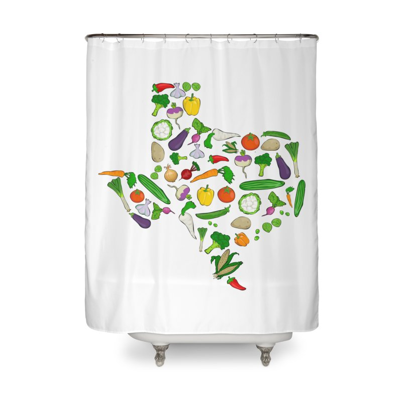 Farm Fresh Texas Home Shower Curtain by justintapp's Artist Shop