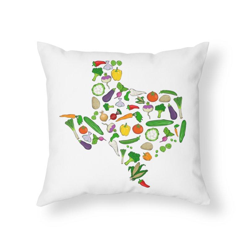 Farm Fresh Texas Home Throw Pillow by justintapp's Artist Shop