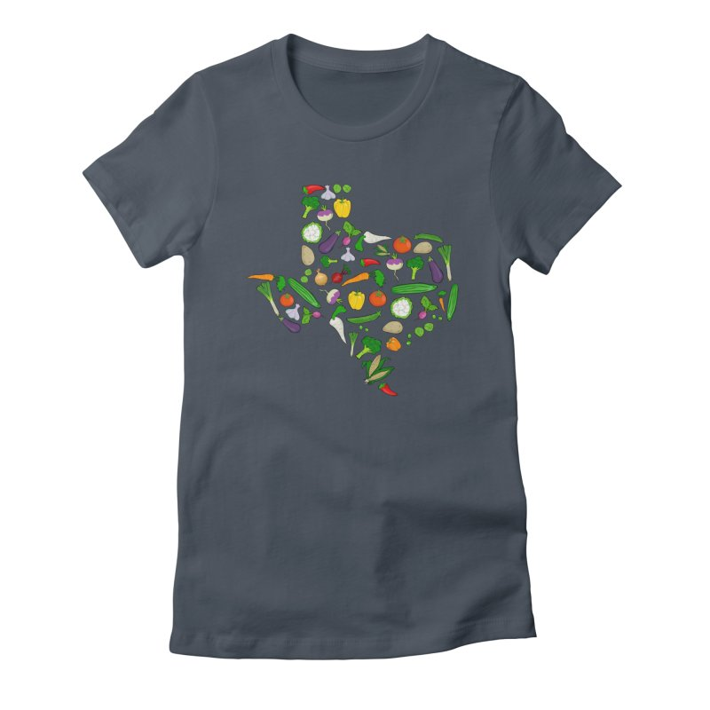 Farm Fresh Texas Women's Fitted T-Shirt by justintapp's Artist Shop