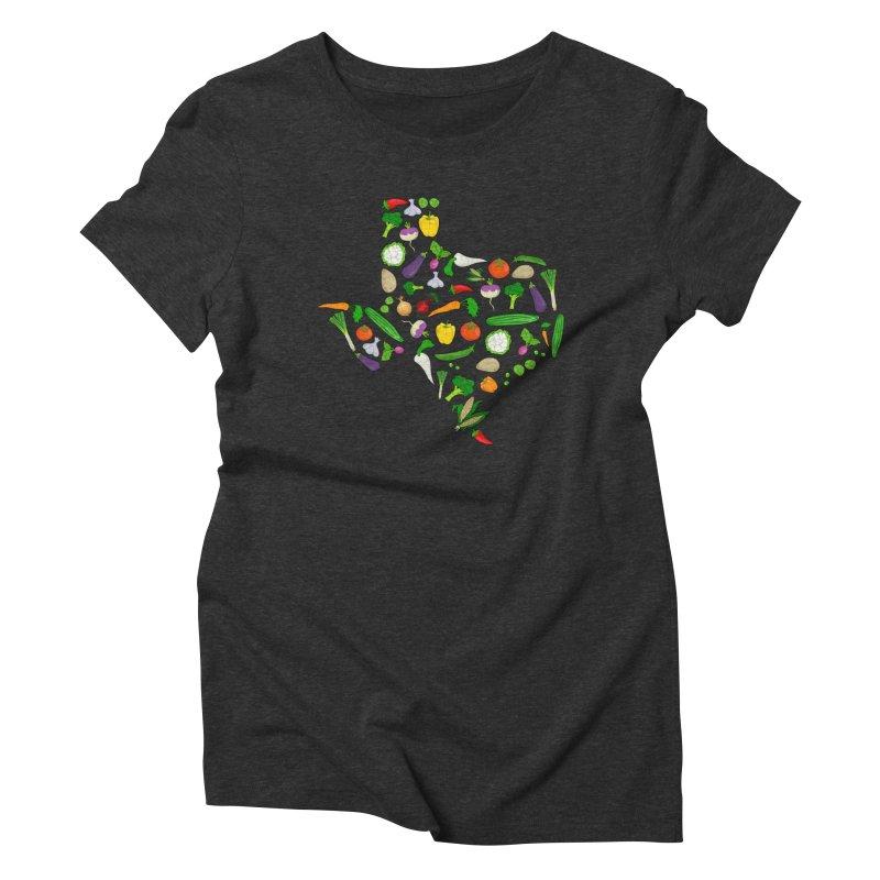 Farm Fresh Texas Women's Triblend T-Shirt by justintapp's Artist Shop