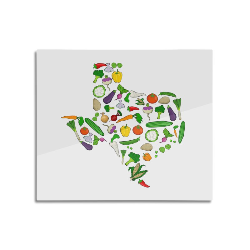Farm Fresh Texas Home Mounted Aluminum Print by justintapp's Artist Shop