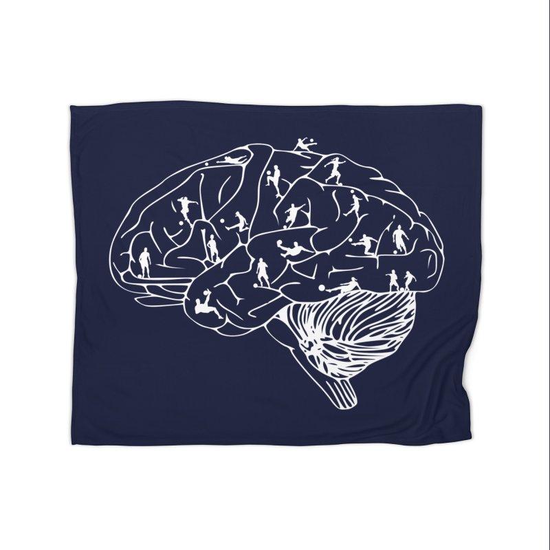 Soccer on the Brain Home Blanket by justintapp's Artist Shop