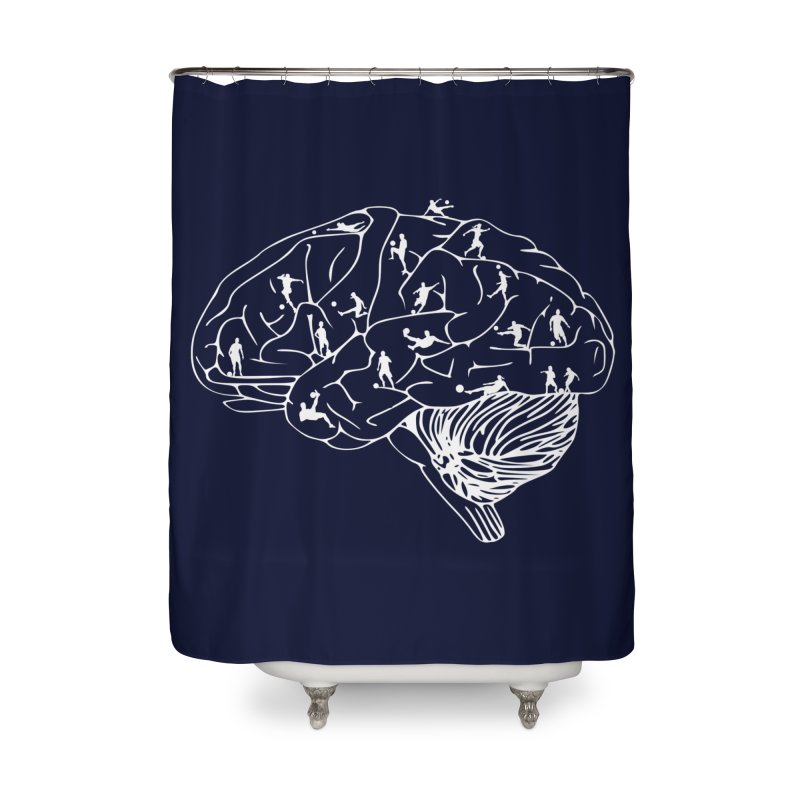Soccer on the Brain Home Shower Curtain by justintapp's Artist Shop