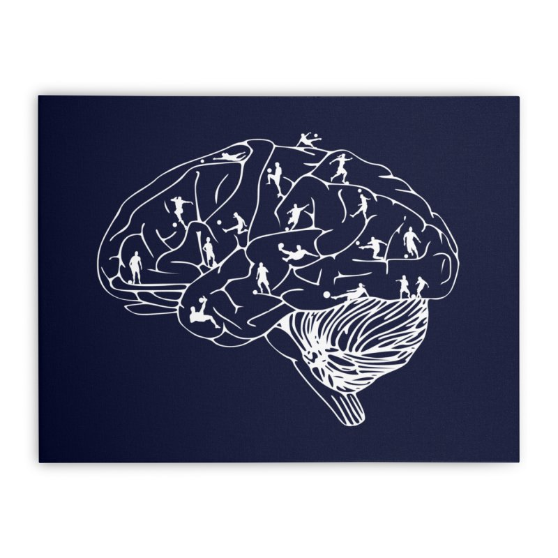 Soccer on the Brain Home Stretched Canvas by justintapp's Artist Shop