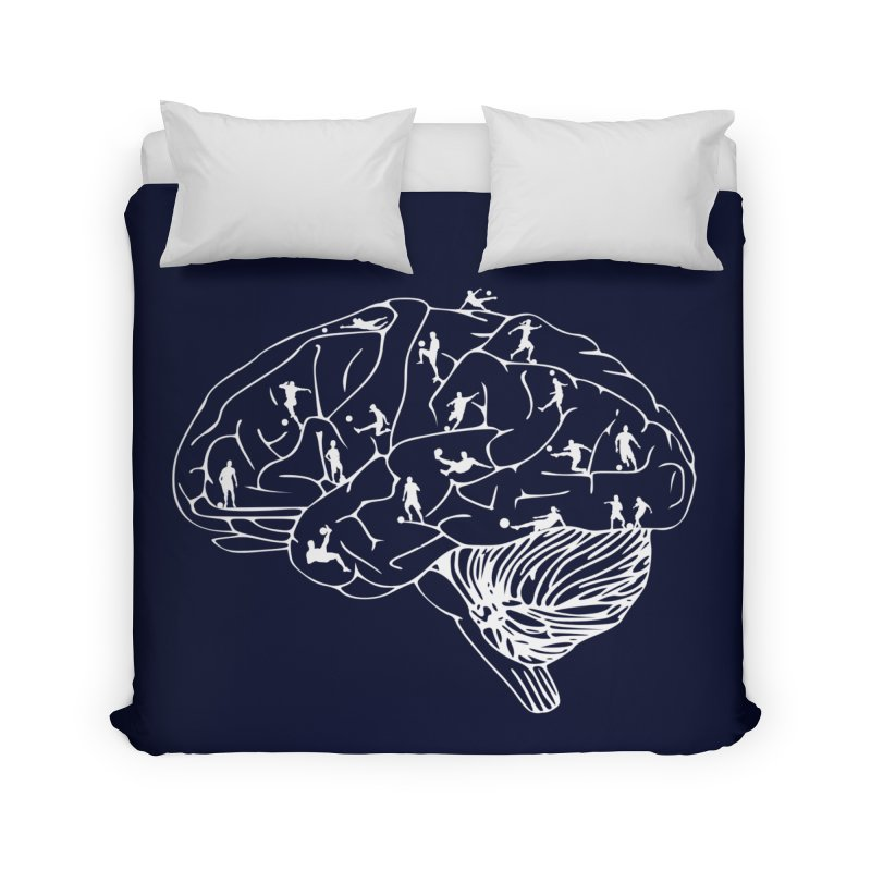 Soccer on the Brain Home Duvet by justintapp's Artist Shop
