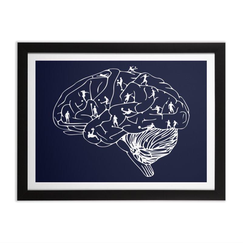 Soccer on the Brain Home Framed Fine Art Print by justintapp's Artist Shop