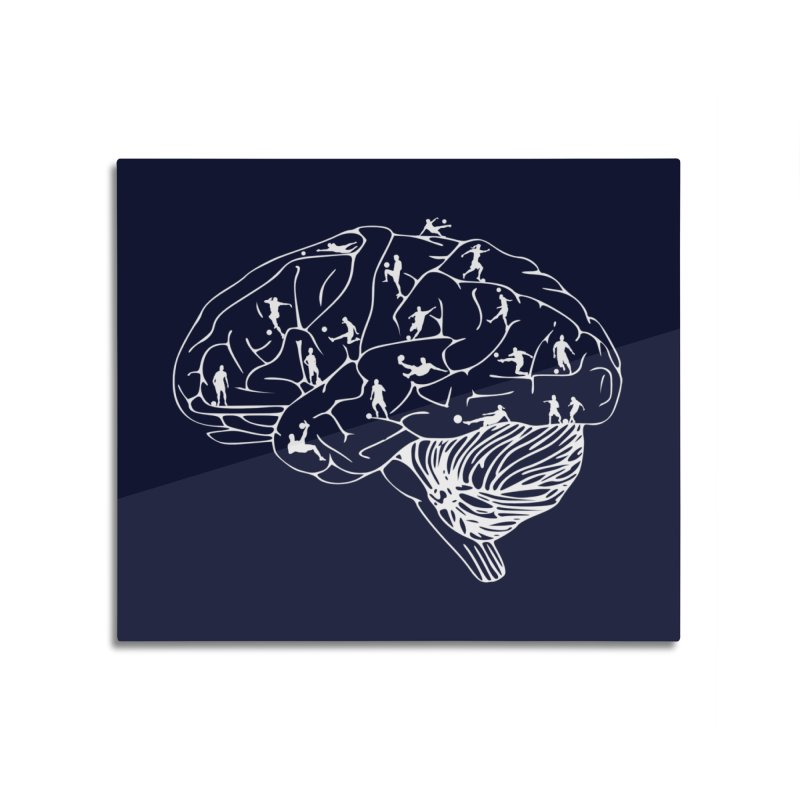 Soccer on the Brain Home Mounted Aluminum Print by justintapp's Artist Shop