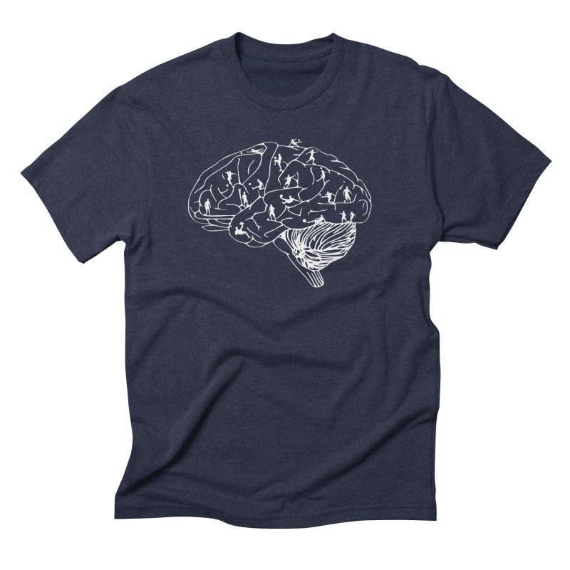 Soccer on the Brain Men's Triblend T-Shirt by justintapp's Artist Shop