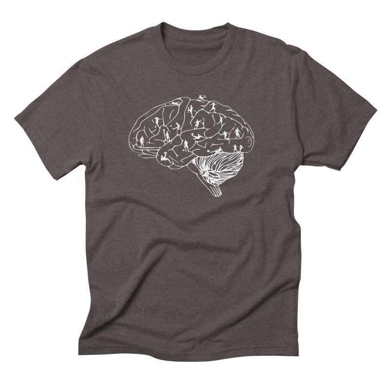 Soccer on the Brain Men's Triblend T-Shirt by justintapp's Artist Shop