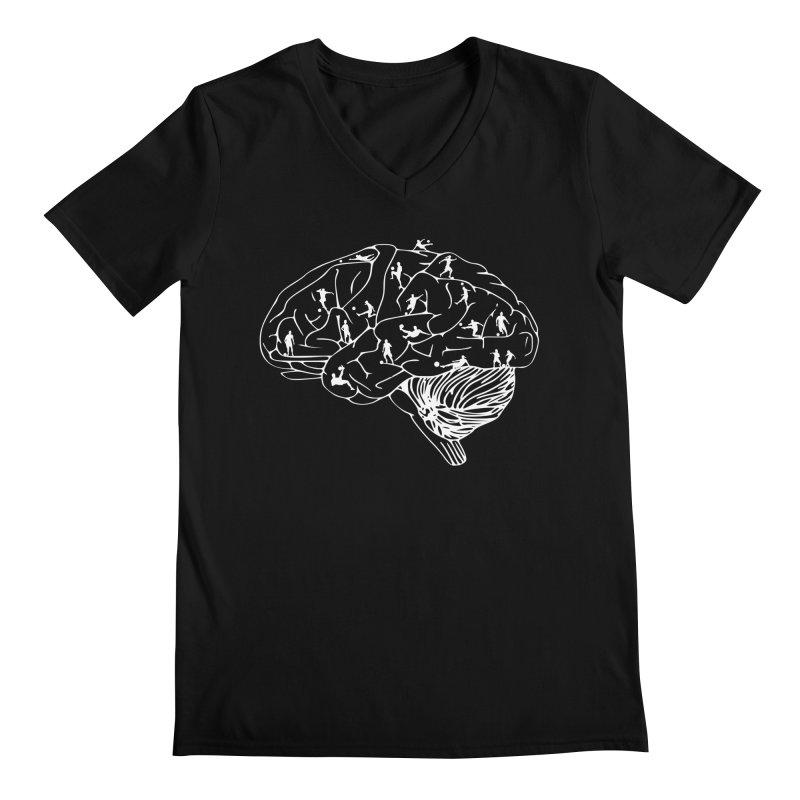 Soccer on the Brain Men's Regular V-Neck by justintapp's Artist Shop
