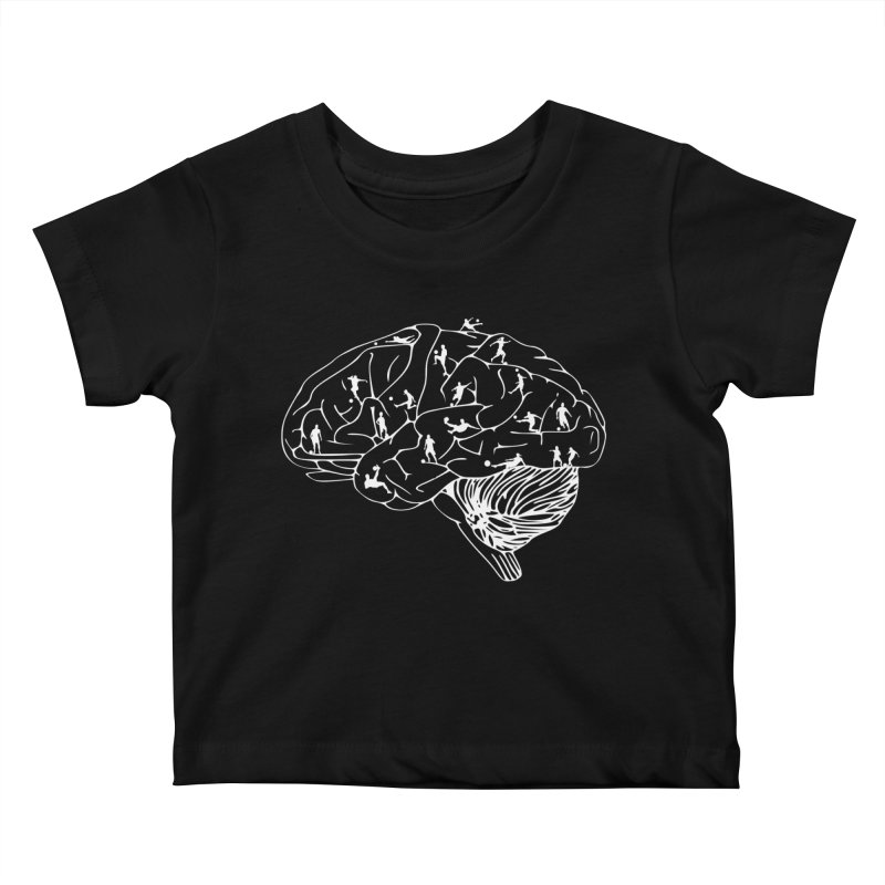 Soccer on the Brain Kids Baby T-Shirt by justintapp's Artist Shop
