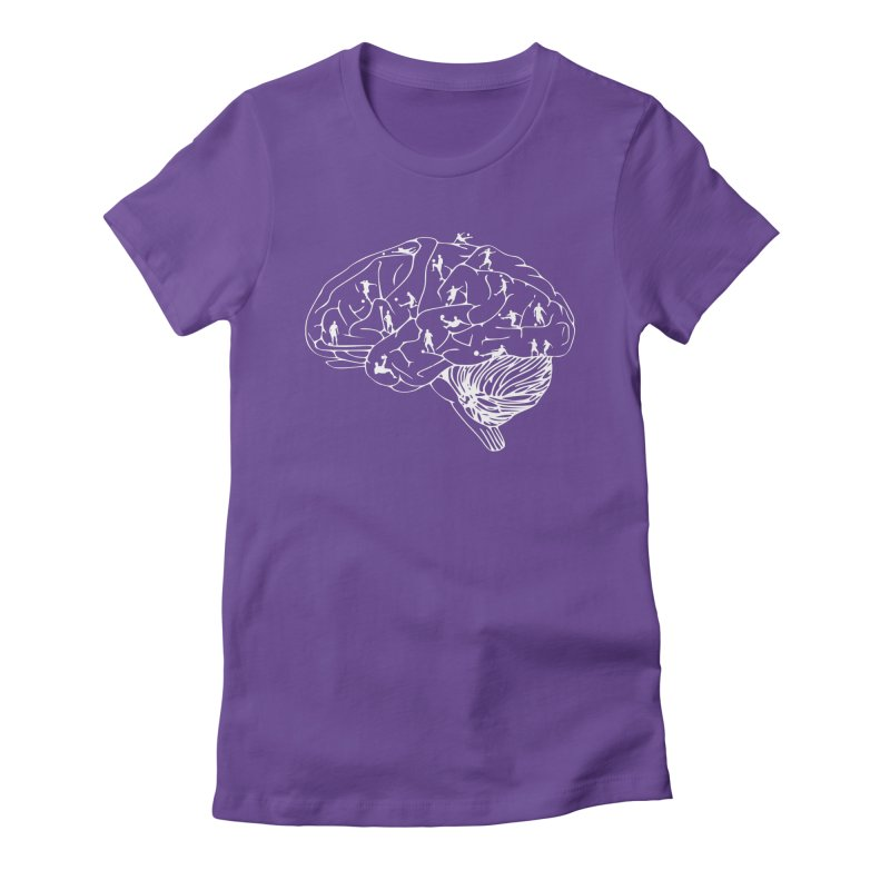 Soccer on the Brain Women's Fitted T-Shirt by justintapp's Artist Shop