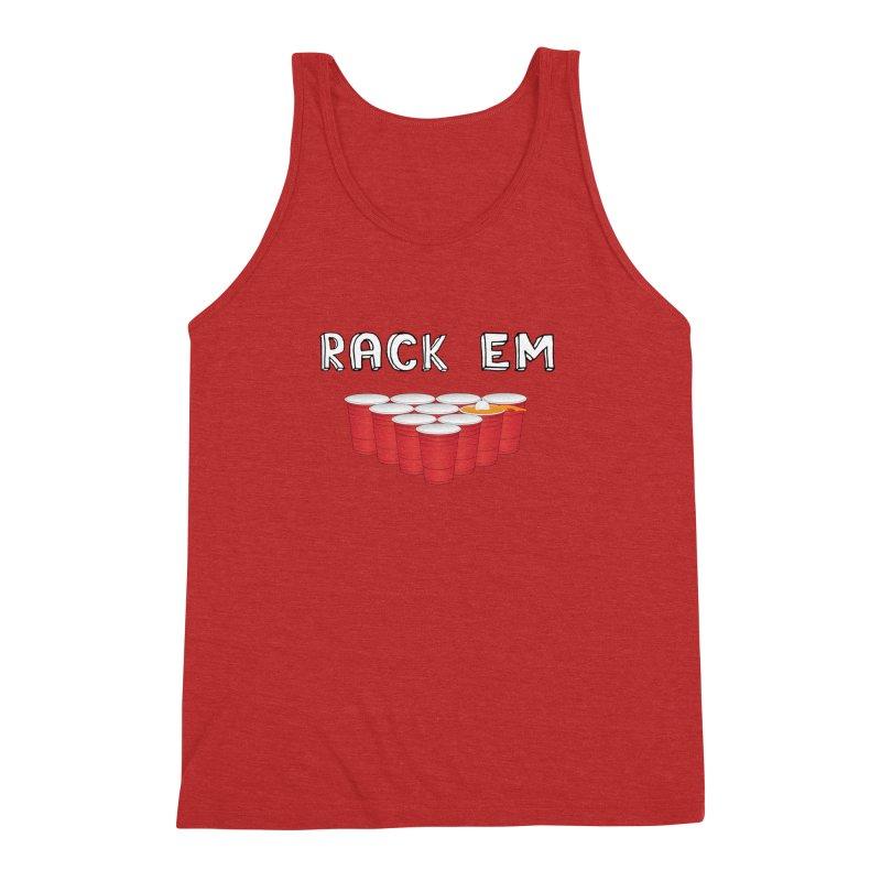 Rack Em Men's Triblend Tank by justintapp's Artist Shop