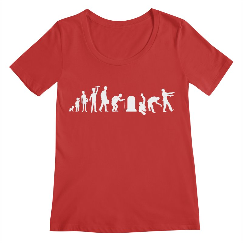 The Life Cycle Women's Scoop Neck by Justin Tapp's Artist Shop