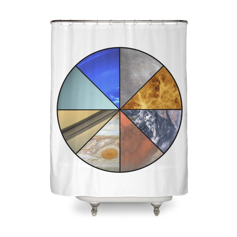 Pizza Planet Home Shower Curtain by Justin Tapp's Artist Shop
