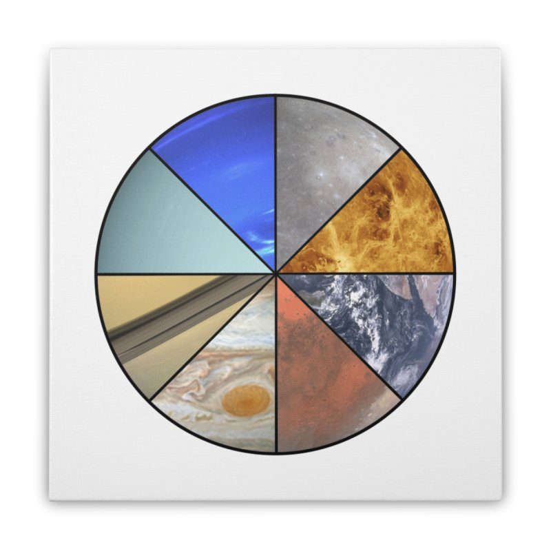 Pizza Planet Home Stretched Canvas by justintapp's Artist Shop