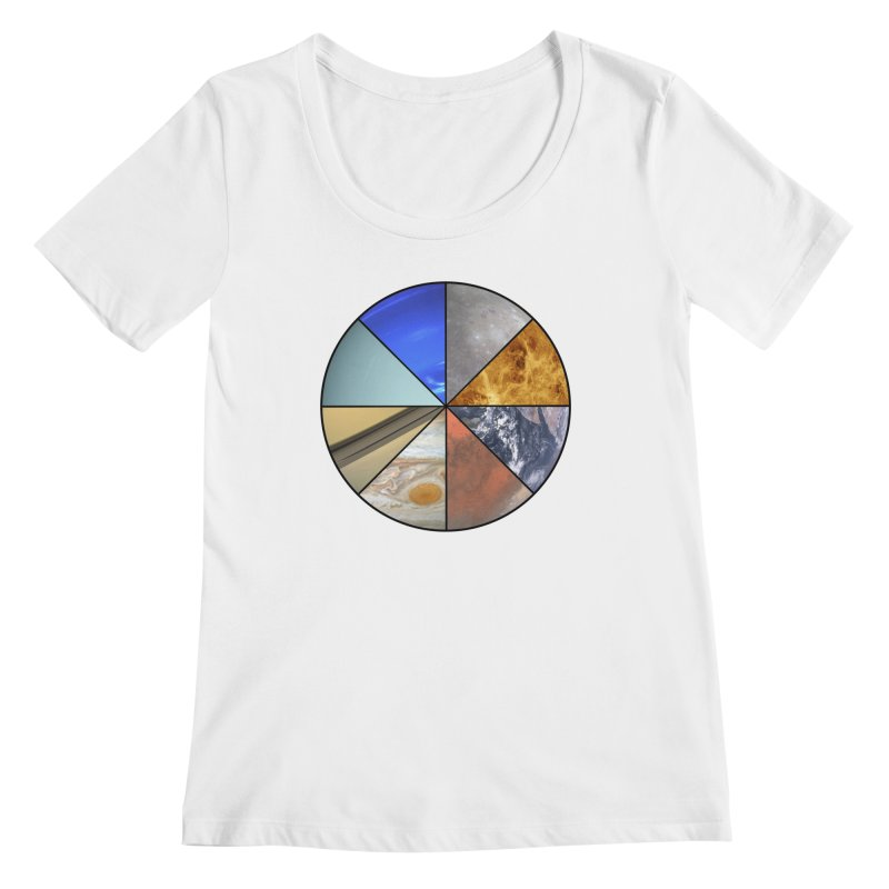Pizza Planet Women's Regular Scoop Neck by justintapp's Artist Shop
