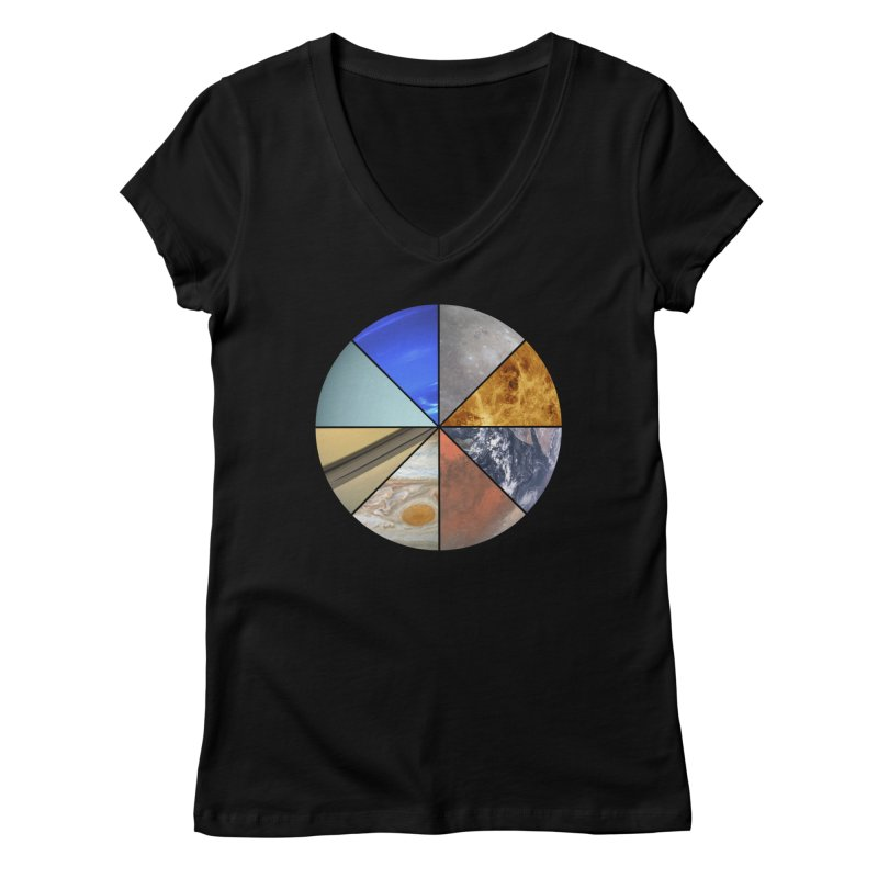Pizza Planet Women's V-Neck by Justin Tapp's Artist Shop