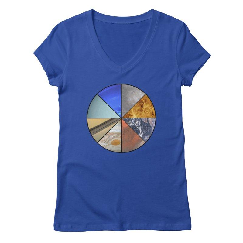 Pizza Planet Women's V-Neck by Justin Tapp's Artist Shop