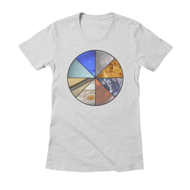 Pizza Planet Women's Fitted T-Shirt by Justin Tapp's Artist Shop