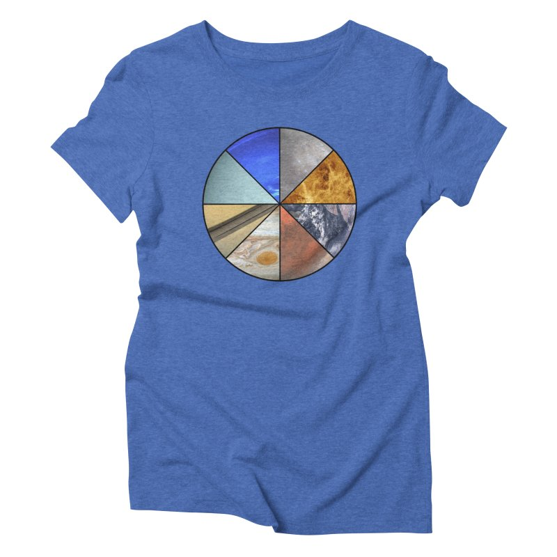 Pizza Planet Women's Triblend T-Shirt by Justin Tapp's Artist Shop