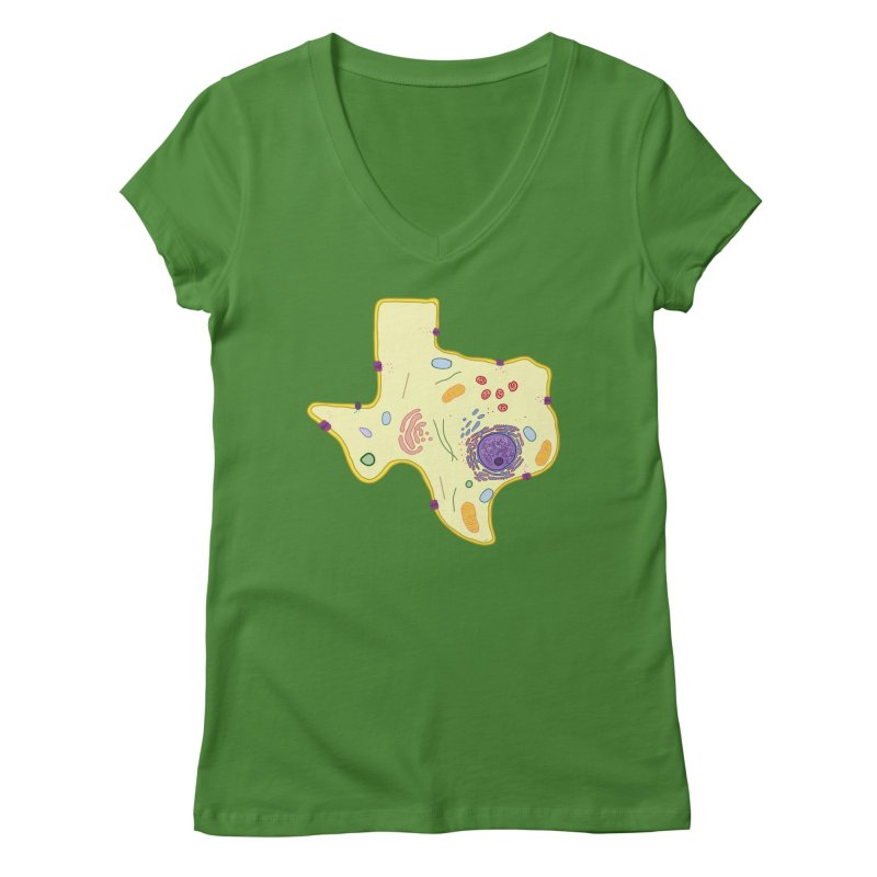 Cell Biyallogy Women's V-Neck by Justin Tapp's Artist Shop