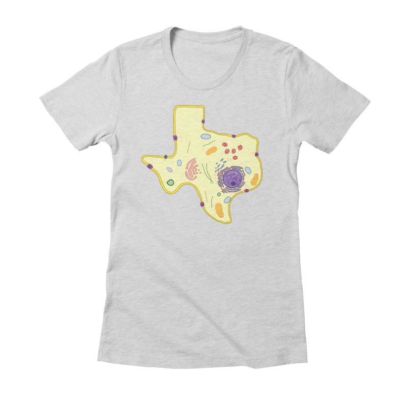 Cell Biyallogy Women's Fitted T-Shirt by Justin Tapp's Artist Shop