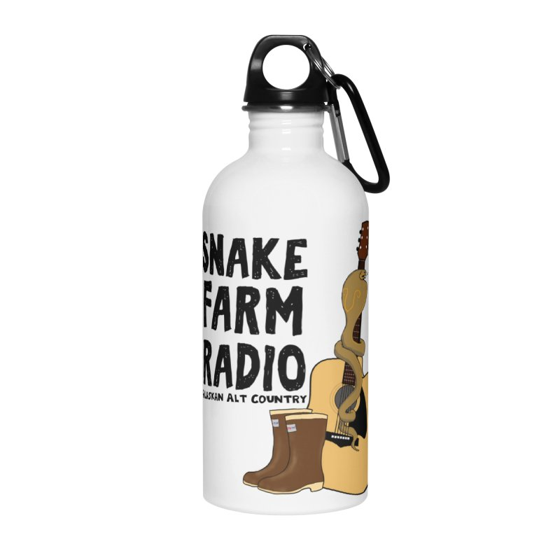 Snake Farm Radio Accessories Water Bottle by Justin Tapp's Artist Shop