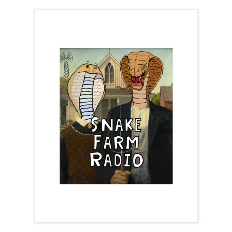 Snake Farm Radio Shirt Home Fine Art Print by Justin Tapp's Artist Shop