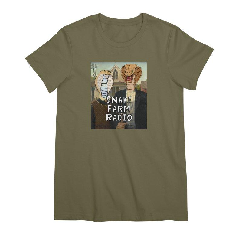 Snake Farm Radio Shirt Women's Premium T-Shirt by Justin Tapp's Artist Shop